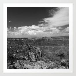 North_Rim Grand_Canyon, AZ - B&W I Art Print
