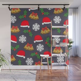 Jingle Bells Christmas Collage Wall Mural