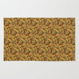 Autumn Leaves Pattern Rug