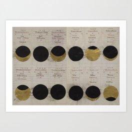 Gold Eclipse Art Print