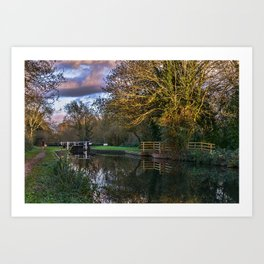 Autumn Reflections On The Kennet Art Print