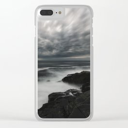 Storming Moonlight Clear iPhone Case