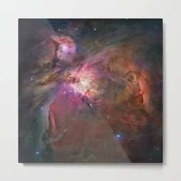 Orion Nebula M42, NGC 19 (High Quality) Metal Print