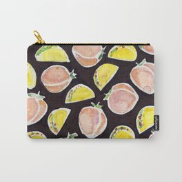 Peach & Taco Carry-All Pouch