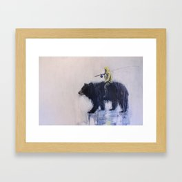 Fishing Buddies Framed Art Print