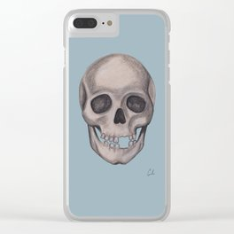 Mr. Smiles - Skull Portraiture Clear iPhone Case