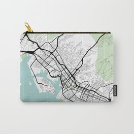 Honolulu Hawaii City Map with GPS Coordinates Carry-All Pouch