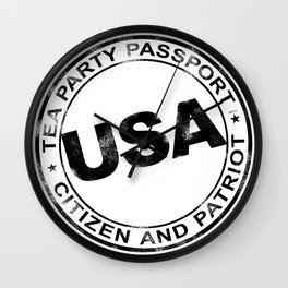 Tea Party Passport Wall Clock