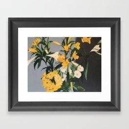 FLOWERS IN VASE (Richter homage) Framed Art Print