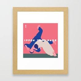 Ippon Seoi Nage Framed Art Print