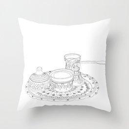 Turska Kafa Sarajevo Throw Pillow