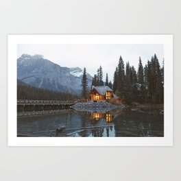 scenic beauty house in deep valley Art Print