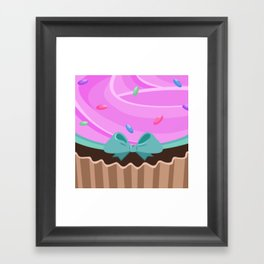 Frosted Pink Framed Art Print