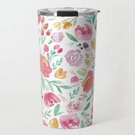 Peony Roses and Floral blooms Travel Mug