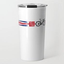 British Cyclist Bike Racing Britain Flag UK Ride Black Travel Mug