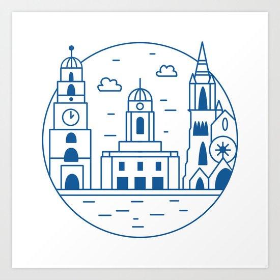 Cork City Icon Art Print