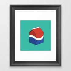 Pepsi in a box Framed Art Print