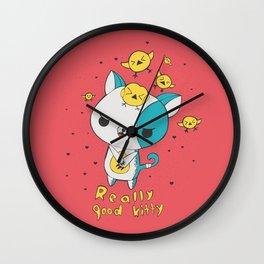 Really Good Kitty Wall Clock