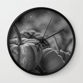 Pumpkin Paradise (Black and White) Wall Clock