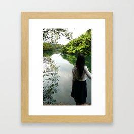 Take me to the green Framed Art Print