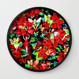 Fairy Flower | Christmas Spirit Wall Clock