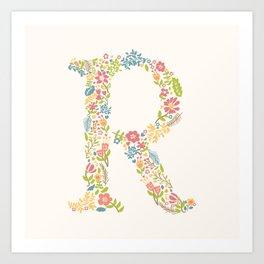 Alphabet R Art Print