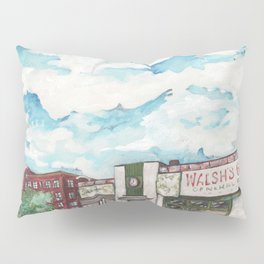 Walsh's Garage Lynn Massachusetts Art Deco Building Pillow Sham
