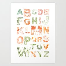 Animal Alphabets Art Print