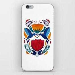 Love birds | Kissing Hummingbirds | Watercolor painting iPhone Skin