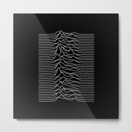 Forty lines of Unknown Pleasures Metal Print