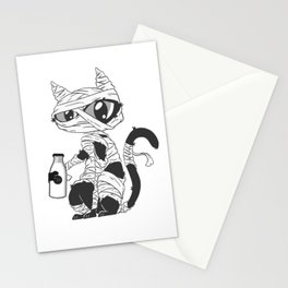 Cute Cat Lover Cat Person Mummified Cat Mummy Kitten Halloween Stationery Cards