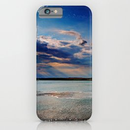 Leaving Harwich, peaceful seascape with dramatic god-rays iPhone Case