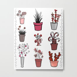 Plants and Other Things Metal Print