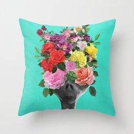 Alien Bouquet  Throw Pillow