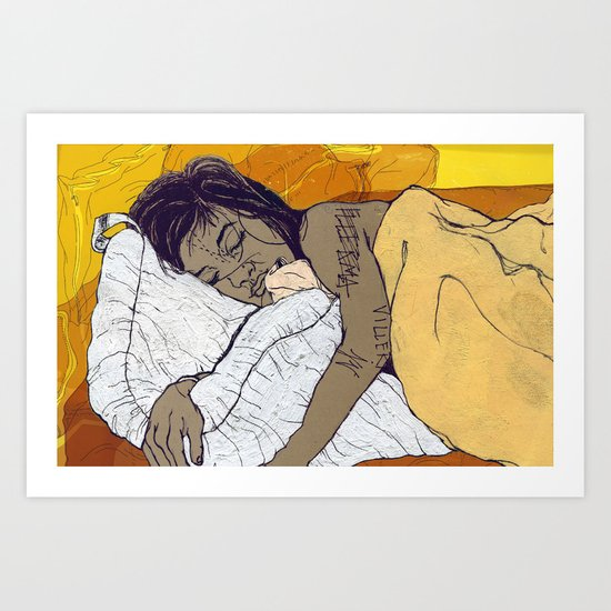 the Bed Art Print