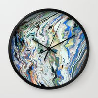geology Wall Clocks featuring Fluctuating Geology by Christina Stavers