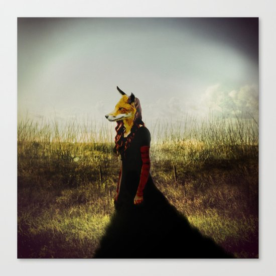 Eyes On The Prize   Fox Lady Canvas Print
