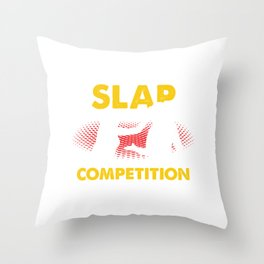 Slap Competition Slap Off Contest Russian Sports Throw Pillow