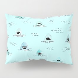 Sharkhead - Shark Pattern Pillow Sham