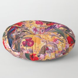 Floral and Birds XXVIII Floor Pillow