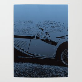 Classic Vintage Car MG Poster
