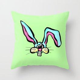 Rabbit - The Worried Bunny Throw Pillow