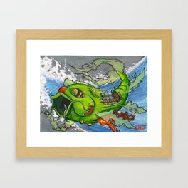 Koi Series, Re-Bait Framed Art Print