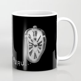 Salvador Dali Inspired Melting Clock. Time is melting away. Coffee Mug