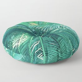 Palm Tree Leaves Upshot With Splashes Of Sunlight Floor Pillow