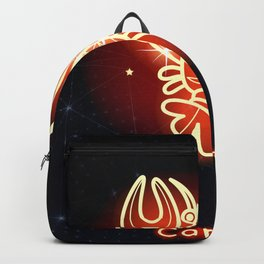 Zodiac red neon — Zodiac red neon — Cancer Backpack