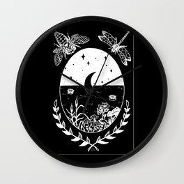 Moon River Marsh Illustration Invert Wall Clock