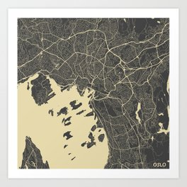 Oslo Map Art Print