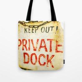"""Private Dock"" Tote Bag"