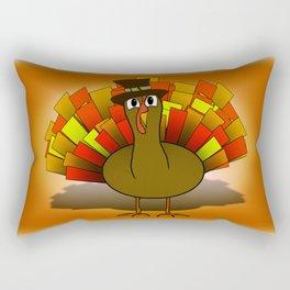 Thanksgiving Turkey Pilgrim Rectangular Pillow